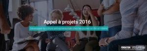 Appel à projets entrepreneuriat